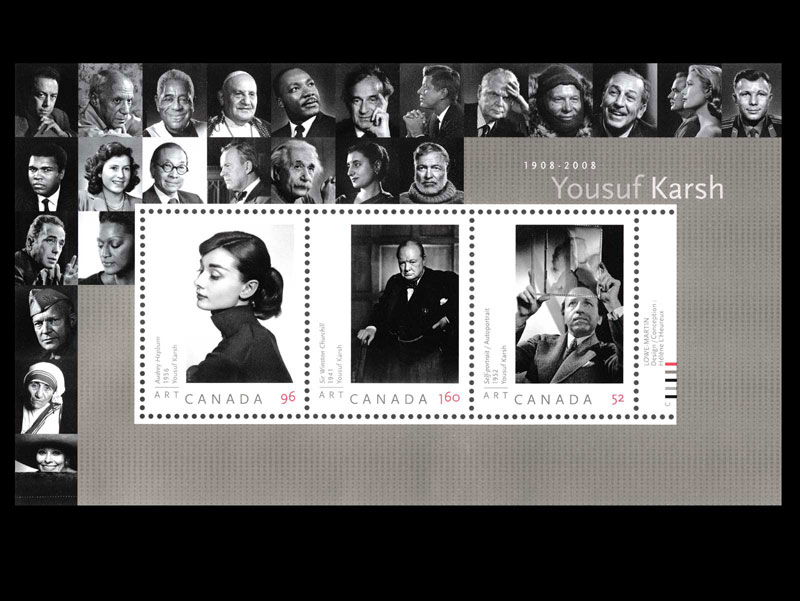 2006 Stamps by Canada Post - Yousuf Karsh Souvenir Sheet Reproduction
