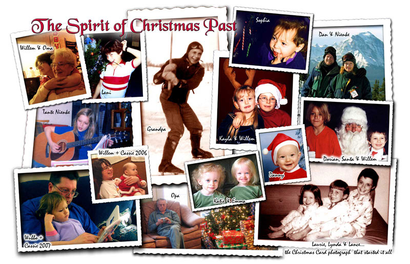 Spirit of Christmas Past family photo collage.