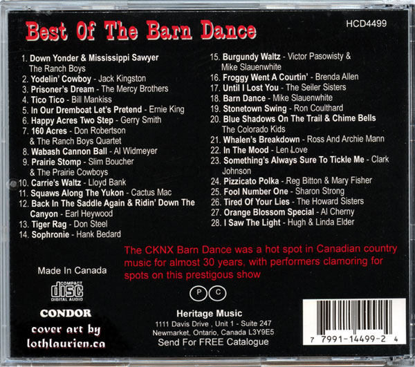 CD content List