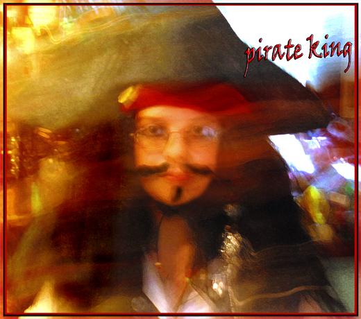 Pirate King digital art portrait.